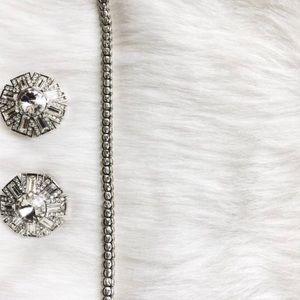 Vintage Stamped Sterling Silver Tennis Bracelet